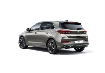 Left-side rear view of the new Hyundai i30.